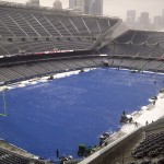 athletic field cover snow