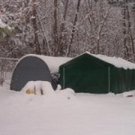 portable garage snow